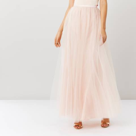 Coast Light Pink Tulle Maxi Skirt