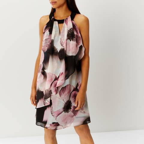 Coast Black/Multi Floral Print Michaela Dress