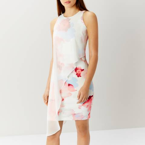 Coast White/Floral Casis Print Arossa Dress