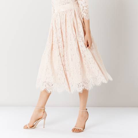 Coast Blush Sardinia Lace Midi Skirt