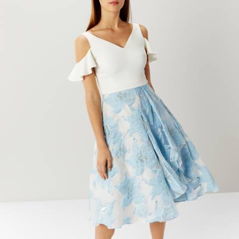 Coast White/Blue Amelia Burnout Dress