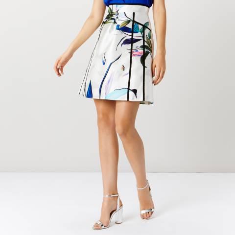 Coast Ivory/Floral Botanical A Line Skirt