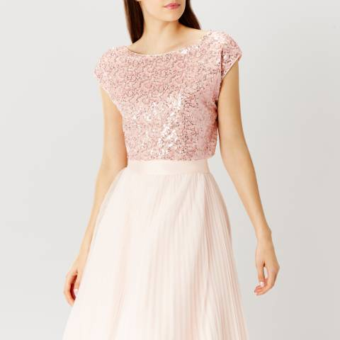 Coast Light Pink Tisa Sequin Bridesmaids Top
