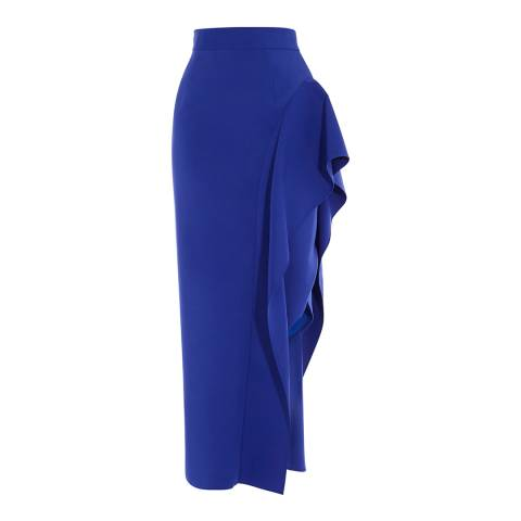 Coast Cobalt Blue Dawna Frill Pencil Skirt