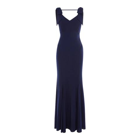 Coast Navy Ray Jersey Bridesmaid Dress