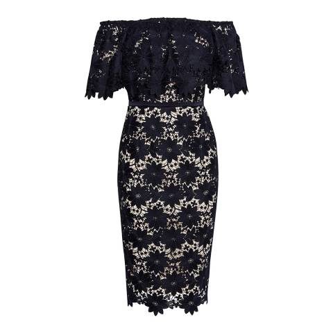 Coast Navy Patience Lace Shift Dress