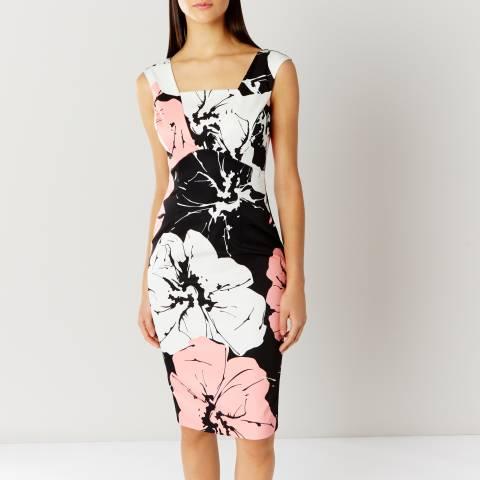 Coast Black/White/Pink Valby Print Shift Dress
