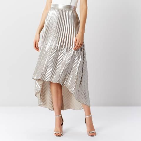 Coast Silver Paige Pleat Maxi Skirt