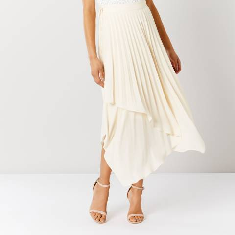 Coast Netural Catania Pleated Skirt