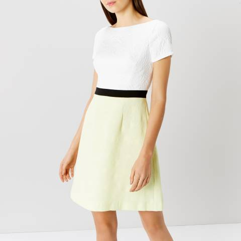 Coast White/Yellow Val Pop On Dress