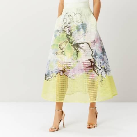 Coast Lime Daisy Mesh Skirt