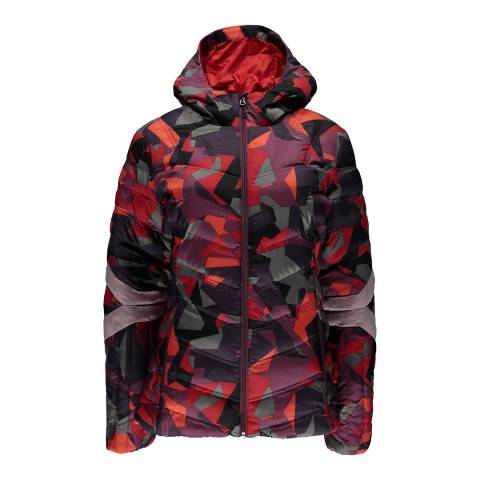 Spyder Women's Red Camo Geared Synthetic Down Jacket