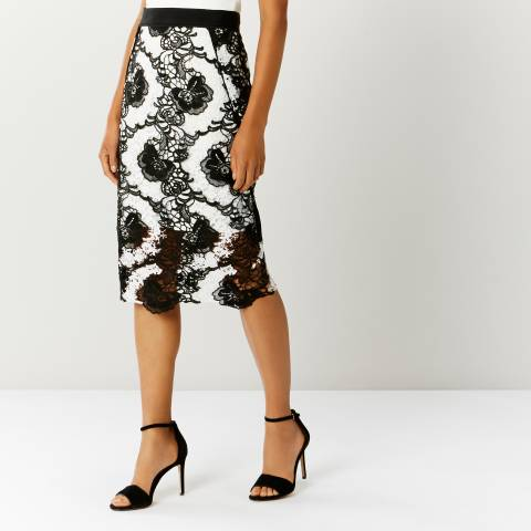 Coast Monochrome Keira Lace Skirt