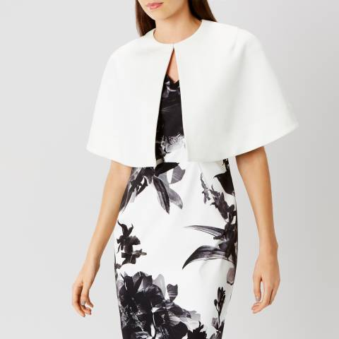 Coast White Lynn Crop Cape Jacket