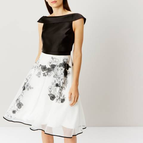 Coast Monochrome Cici Mono Artwork Dress