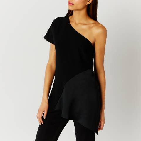 Coast Black Victoria One Shoulder Top