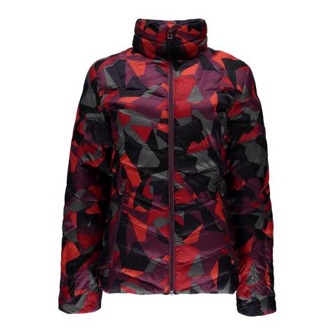 Spyder Women's Red Camo Print Geared Synthetic Down Jacket