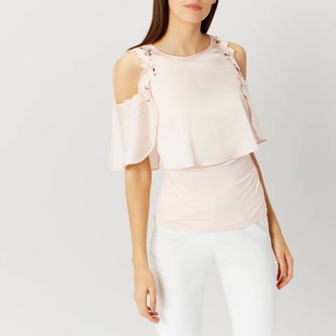 Coast Blush Delph Cold Shoulder Top