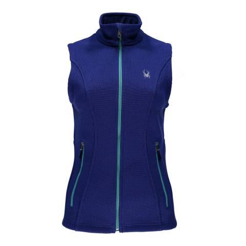 Spyder Womens Blue Endure Mid Stryke Gilet Vest