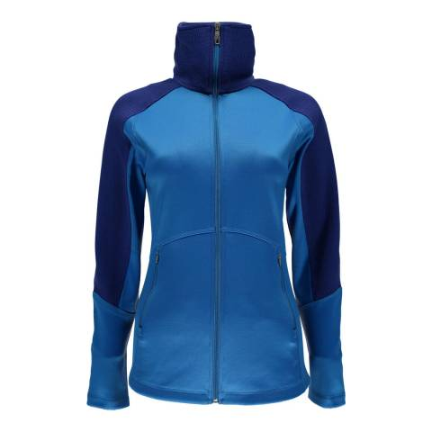Spyder Womens French Blue Bandita Full Zip Stryke Jacket