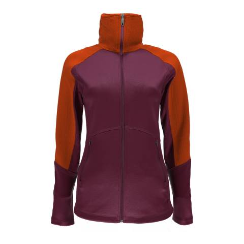 Spyder Womens Purple/Orange Bandita Full Zip Stryke Jacket
