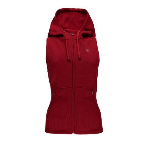 Spyder Women's Red Bandita Hoody Stryke Vest