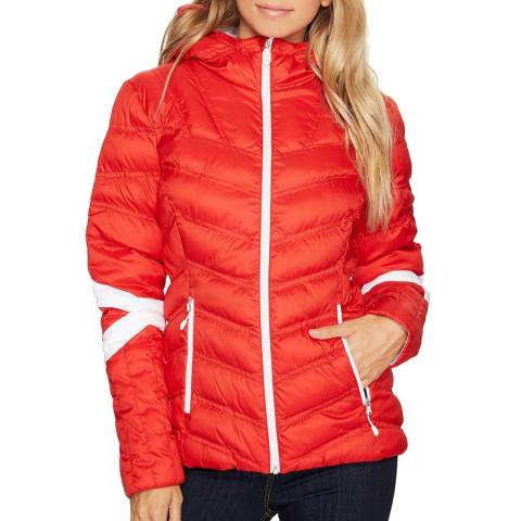 Spyder Women's Red/White Synthetic Down Vintage Hoody