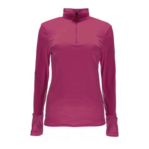 Spyder Womens Raspberry Turbo T-Neck Top