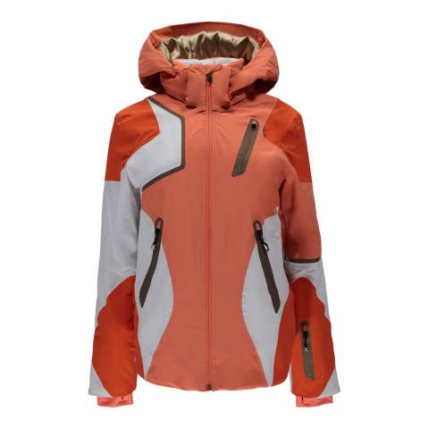 Spyder Women's Coral/White Panorama Jacket