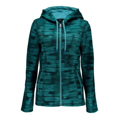 Spyder Womens Baltic Wind Print Novelty Hoody Stryke Jacket