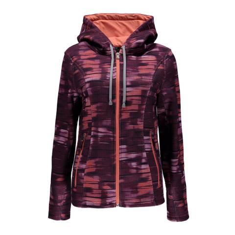 Spyder Women's Coral Wind Print Novelty Hoody Stryke Jacket
