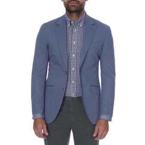 Hackett London Blue Stretch Cotton Jacket