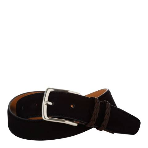 Hackett London Navy Suede Belt with Braided Straps