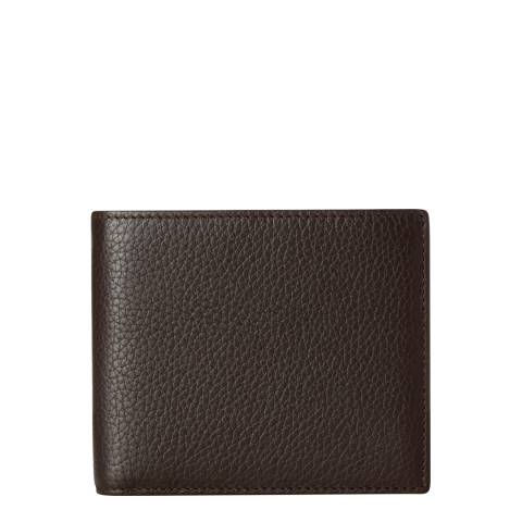Hackett London Brown Leather Billfold Wallet
