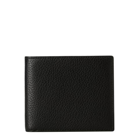 Hackett London Black Leather Billfold Wallet