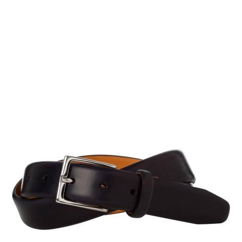 Hackett London Navy Leather 30mm Belt