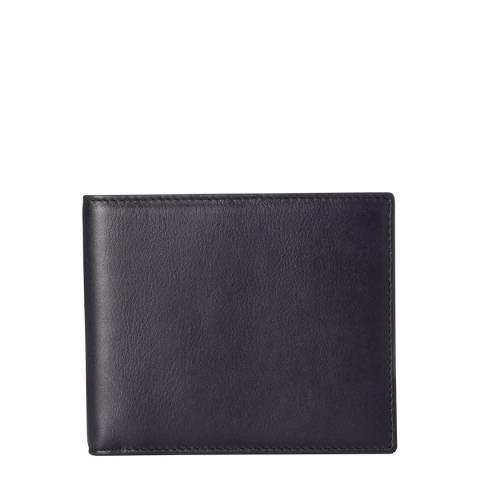Hackett London Navy Bi-fold Leather Wallet
