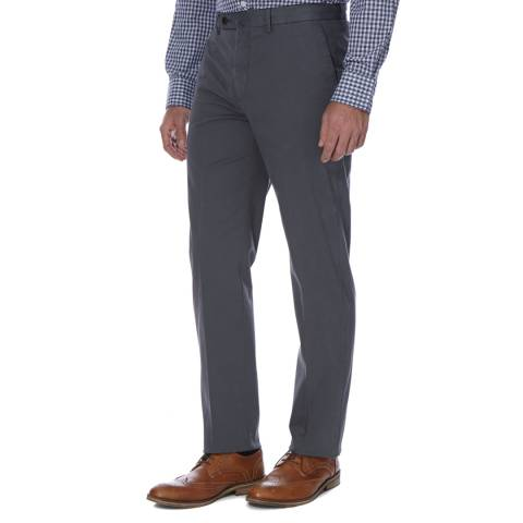 Hackett London Grey Tailored Sanderson Chino Trousers