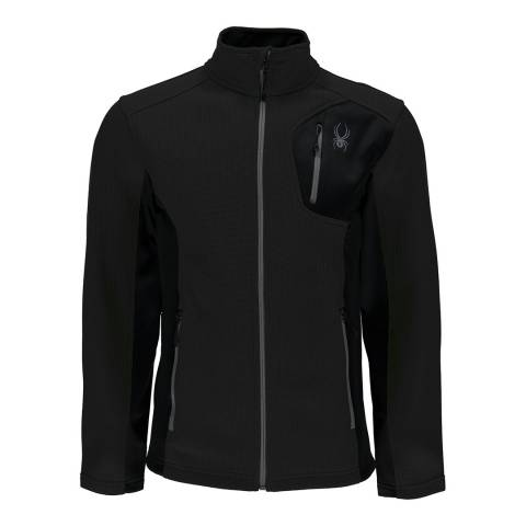 Spyder Men's Black Bandit Full Zip Jacket