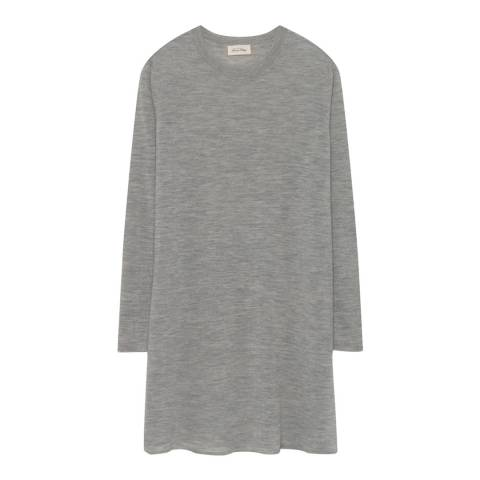 American Vintage Heather Grey Long Sleeved Round Neck Dress