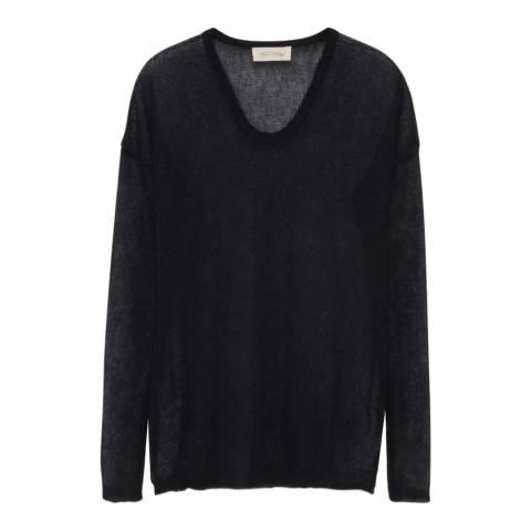 American Vintage Black Mohair Blend Sweater