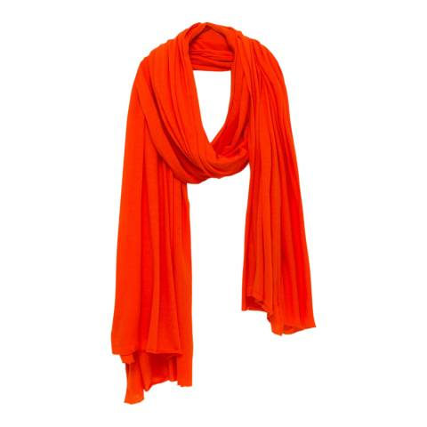 American Vintage Orange Vintage Cotton Scarf