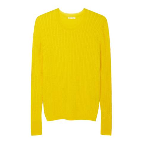American Vintage Yellow Cable Knit Wool Blend Sweater