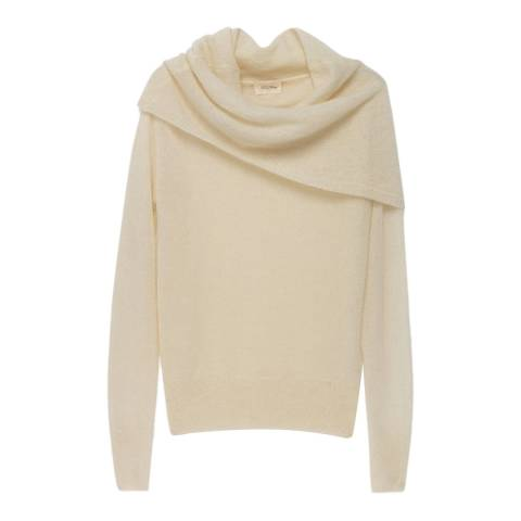 American Vintage Pearl Slash Neck Wool Blend Jumper
