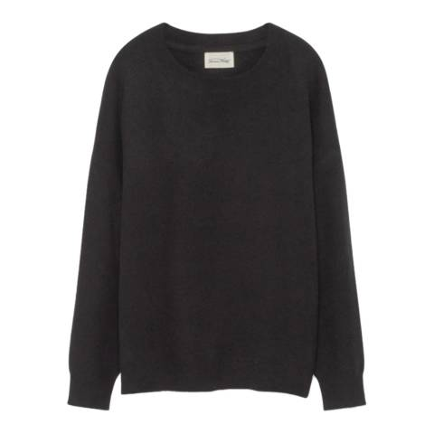 American Vintage Charcoal Loose Wool Blend Jumper