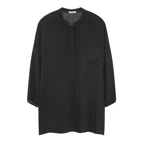 American Vintage Black Axobridge Wool Blend Shirt