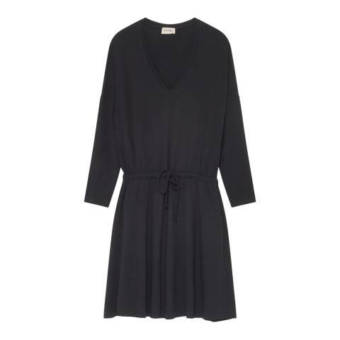American Vintage Black Grey Casa Grande Wool Blend Dress