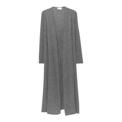 American Vintage Heather Grey Long Sleeved Long Cardigan