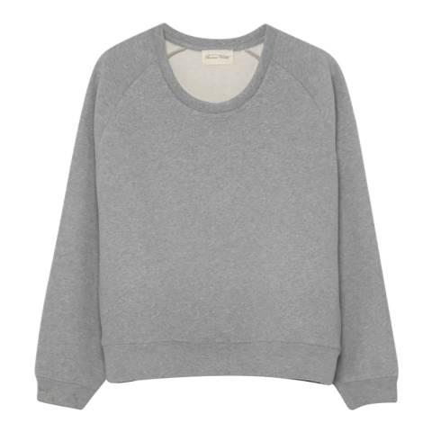 American Vintage Heather Grey Long Sleeved Round Neck Sweatshirt