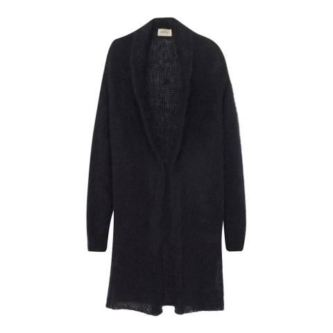 American Vintage Black Shawl Collar Wool Blend Cardigan